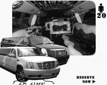 Cadillac Escalade 20 passenger SUV Limousine for rental in Providence, RI
