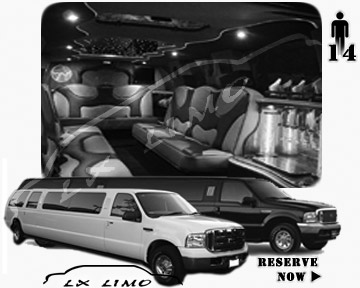 Lincoln Excursion SUV Limo for hire in Providence, RI