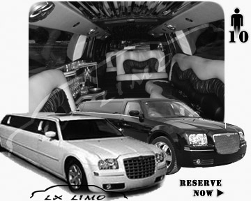 Chrysler 300 Limo for wedding in Providence